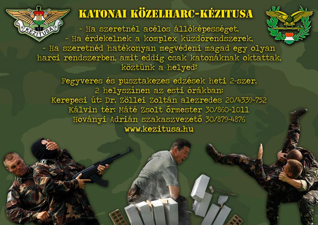 Katonai Közelharc- Kézitusa Szórólap